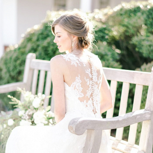 Bride with illusion lace back