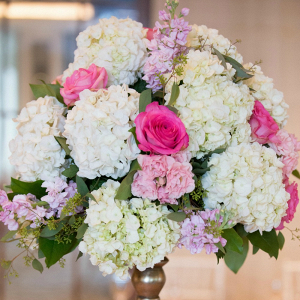 Blush and Pink Textured Raised Centerpieces