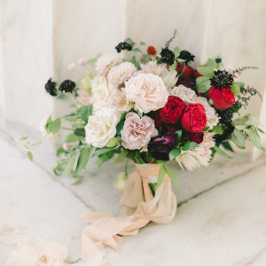 Lush blush and red bouquet