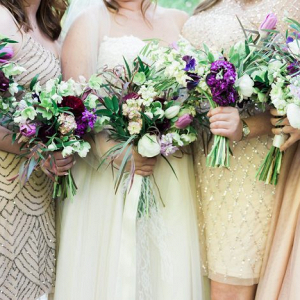 Metallic bridal party