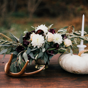 Fall pumpkin wedding centerpiece inspiration