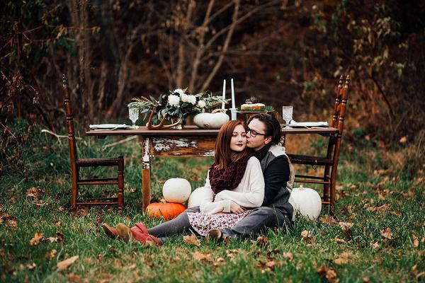 fall wedding farm table inspiration
