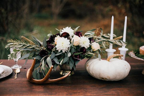 Fall pumpkin wedding centerpiece inspiration