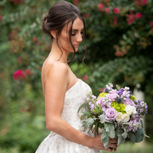 bridal bouquet and wedding portraits