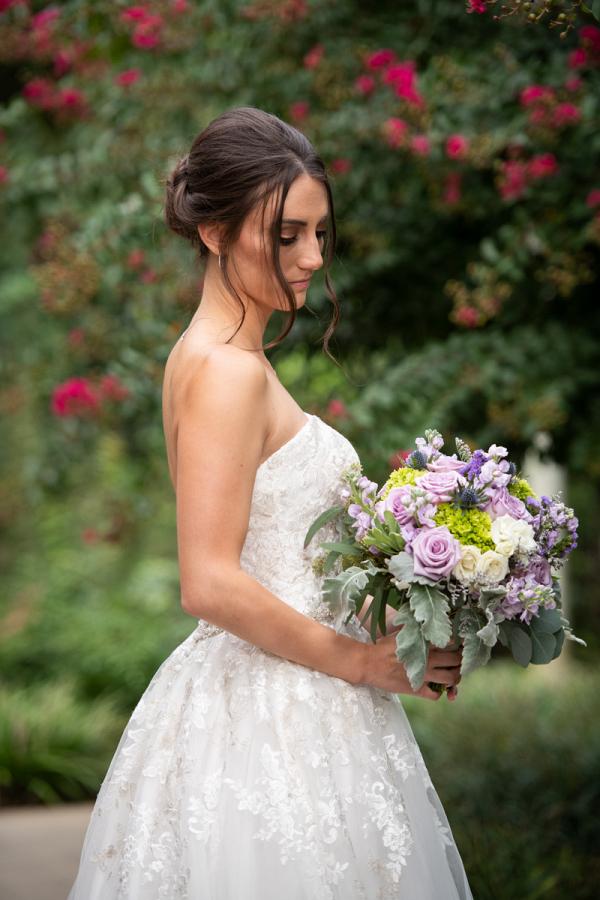 bridal bouquet and wedding portraits