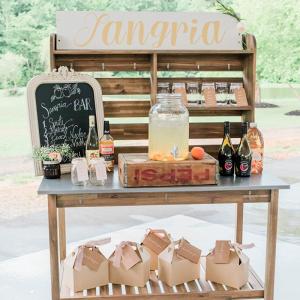 Wedding reception sangria station cocktail
