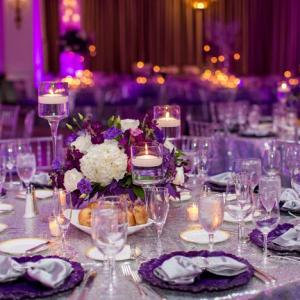 Purple and silver reception