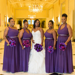 Purple bridal party