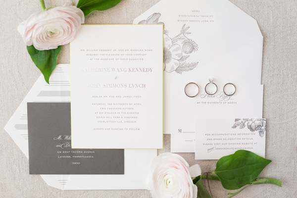 Cheree Berry Paper invitation suite and menu set