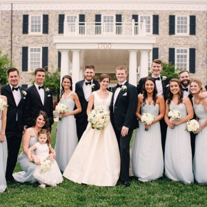 Classic bridal party