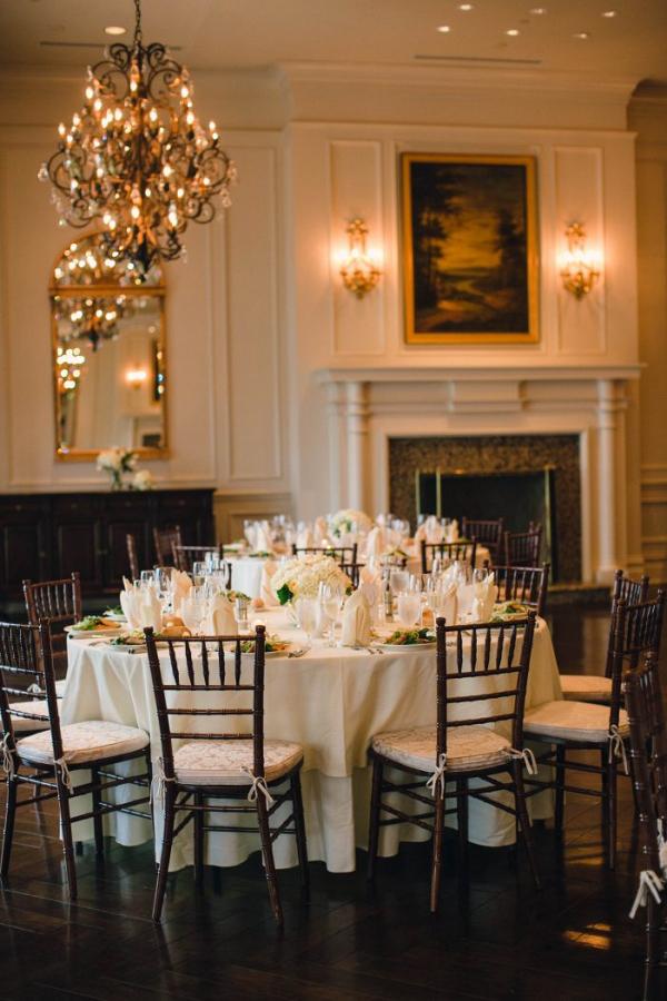 Classic white reception