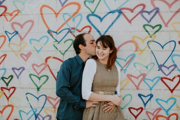 Fun and Romantic D.C. Heart Wall Engagement Shoot