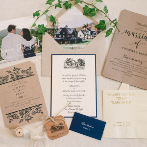 Virginia Home Wedding - rustic wedding invitation