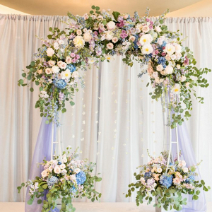Pastel floral ceremony arch