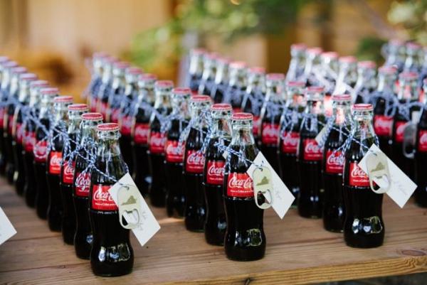 Coke bottle favors
