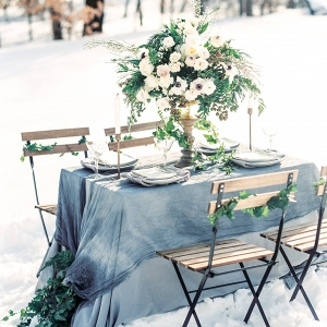 winter wedding reception table decor